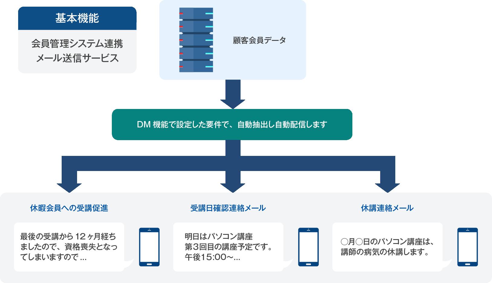 DM管理機能の強化(※オプション機能)