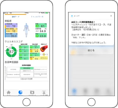 個人向け健康管理アプリケーション