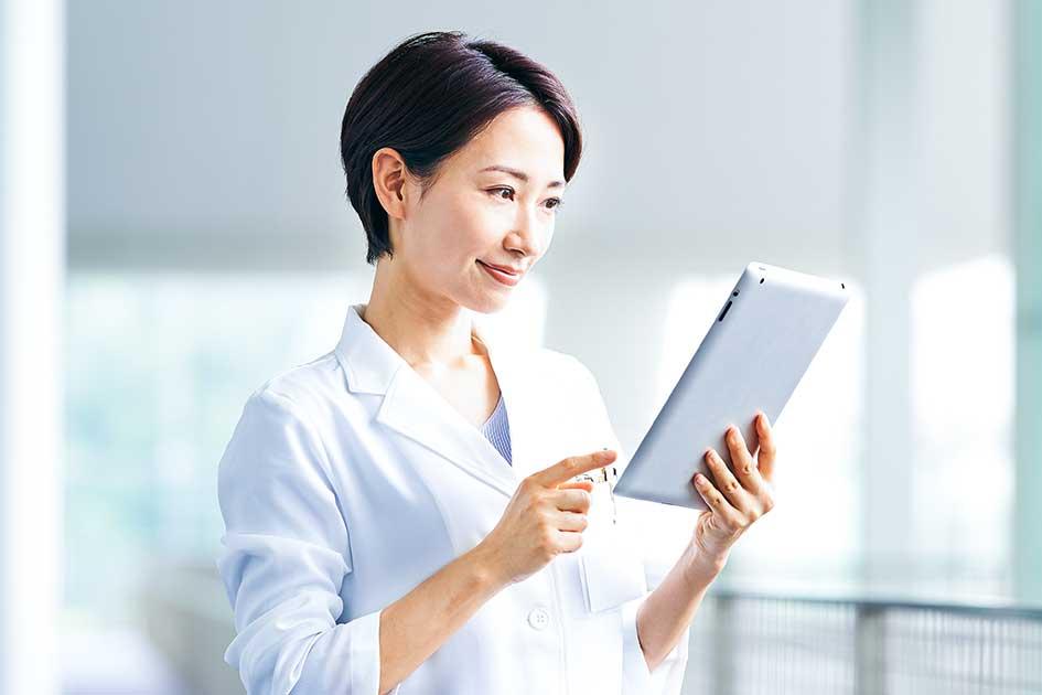 モバイル端末で訪問診療時に簡単閲覧!