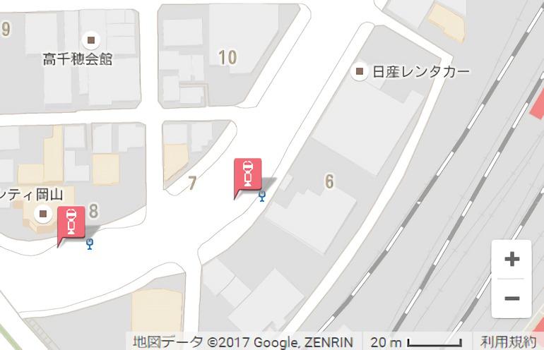 目的地付近の停留所を検出